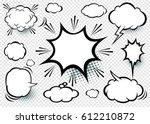 comic speech bubbles icon ... | Shutterstock .eps vector #612210872