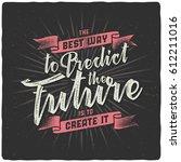 handmade textured lettering... | Shutterstock .eps vector #612211016