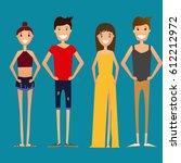 flat style illustration of... | Shutterstock .eps vector #612212972