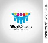 work group logo | Shutterstock .eps vector #612218846