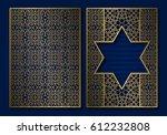 golden vintage book cover... | Shutterstock .eps vector #612232808
