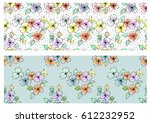 vector set of seamless floral...
