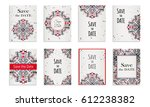 save the date. set of postcards ...   Shutterstock .eps vector #612238382