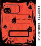 halloween invitations set   Shutterstock .eps vector #61225066