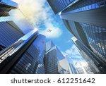 panorama cityscape modern high... | Shutterstock . vector #612251642