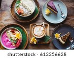 healthy breakfast made of... | Shutterstock . vector #612256628