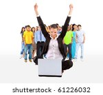 business woman with her hands... | Shutterstock . vector #61226032