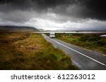 motor home driving through...   Shutterstock . vector #612263012