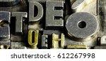 historical letterpress types ... | Shutterstock . vector #612267998