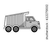 dump truck icon | Shutterstock .eps vector #612270032