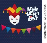 april fools day mask joker hat... | Shutterstock .eps vector #612270455