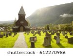 Norwegian Stave Church With...