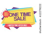 colorful one time sale limited... | Shutterstock .eps vector #612278222
