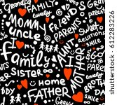 family. seamless pattern for... | Shutterstock .eps vector #612283226