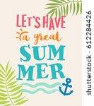 summer holidays concept... | Shutterstock .eps vector #612284426