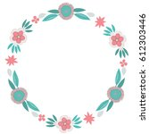 Colorful Flowers Wreath In...
