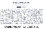 doodle vector illustration of... | Shutterstock .eps vector #612308516