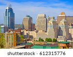 skyline of downtown cincinnati  ... | Shutterstock . vector #612315776