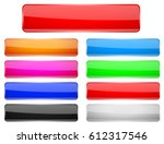rectangle glass menu buttons... | Shutterstock .eps vector #612317546