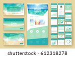 website template  one page... | Shutterstock .eps vector #612318278