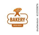 vector logo bakery  bread house | Shutterstock .eps vector #612320876