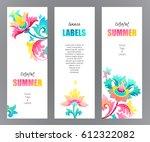 vector ornate vertical cards... | Shutterstock .eps vector #612322082