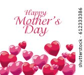 happy mothers day invitation... | Shutterstock .eps vector #612333386