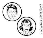 couple comic pop art image | Shutterstock .eps vector #612334016