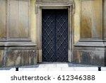 Closed Door Of Church.