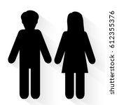 man and woman icons vector | Shutterstock .eps vector #612355376