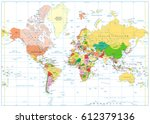 colored world map isolated on... | Shutterstock .eps vector #612379136