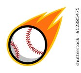 baseball comet fire tail flying | Shutterstock .eps vector #612385475