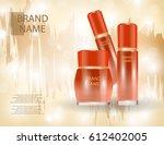 glamorous face beauty care... | Shutterstock .eps vector #612402005