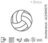 volleyball ball. vector... | Shutterstock .eps vector #612404075