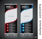roll up brochure flyer banner... | Shutterstock .eps vector #612412976