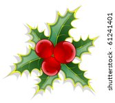 christmas background  with red... | Shutterstock .eps vector #61241401