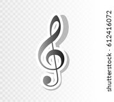 music violin clef sign. g clef. ...   Shutterstock .eps vector #612416072