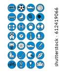 sport icons. vector... | Shutterstock .eps vector #612419066
