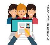 businesspeople character avatar ... | Shutterstock .eps vector #612420482