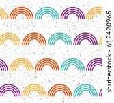 geometric seamless pattern... | Shutterstock .eps vector #612420965