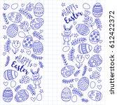 vector pattern for easter eggs  ... | Shutterstock .eps vector #612422372