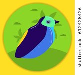 bird in flat style a vector | Shutterstock .eps vector #612428426