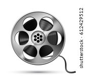 reel of film tape  realistic... | Shutterstock .eps vector #612429512