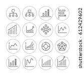 graph flat icon set. | Shutterstock .eps vector #612429602