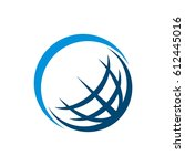blue earth swoosh   Shutterstock .eps vector #612445016