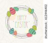 happy easter. colorful easter... | Shutterstock .eps vector #612446402