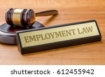 a gavel and a name plate with... | Shutterstock . vector #612455942