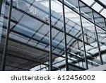 modern glass roof inside... | Shutterstock . vector #612456002