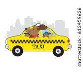 A Dog Is Driving A Taxi In New...
