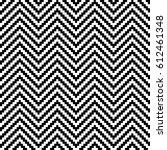 black and white chevron pixel... | Shutterstock .eps vector #612461348